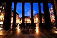 Night view from the Pantheon